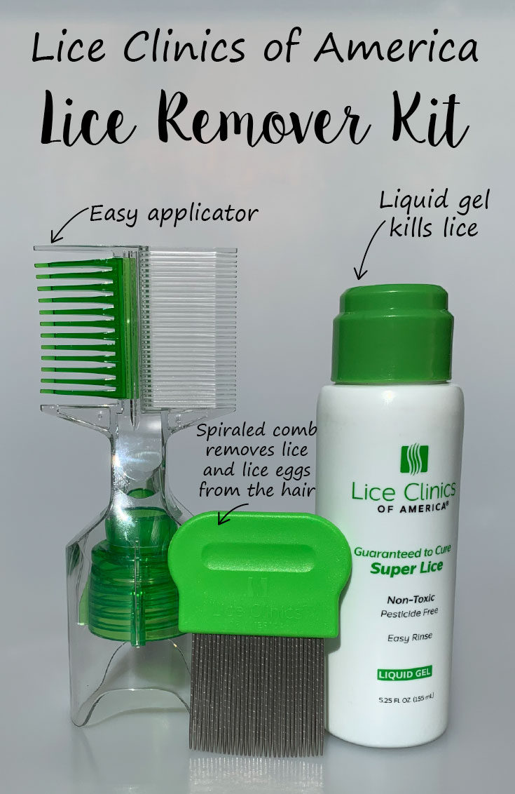 Lice Clinics of America Lice Remover Kit displayed with arrows pointing to each item