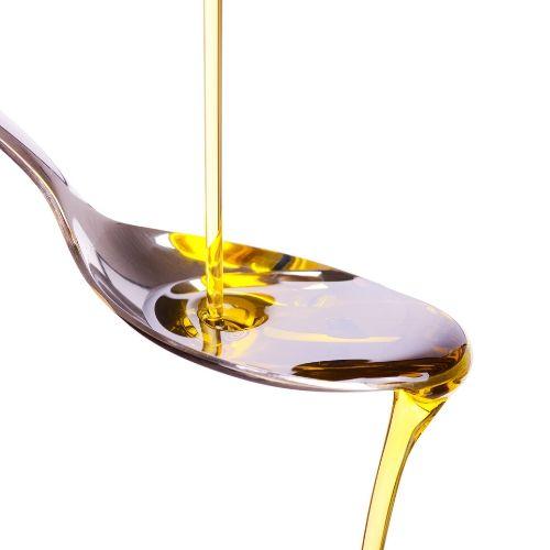 oil on spoon