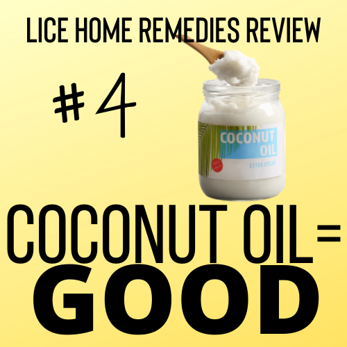Coconut oil is a good home remedy for lice