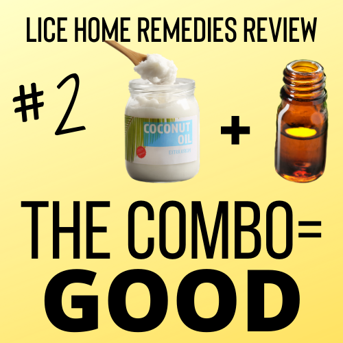 Coconut Oil with Tea Tree Oil is a good home remedy for lice