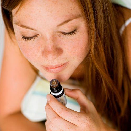 smelling essential oils