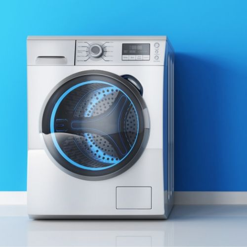 A modern washing machine.