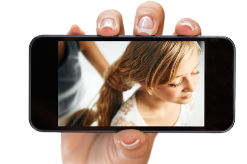 holding phone 7