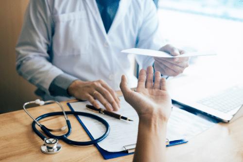 doctor writing a prescription lice treatment